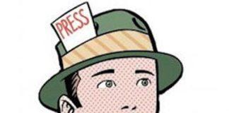 giornalista fumetto